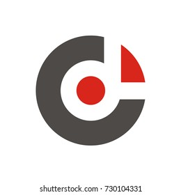 CD or C or DC or D initial letter logo design template vector