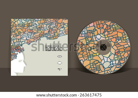 cd cover design template abstract pattern stock vector royalty free