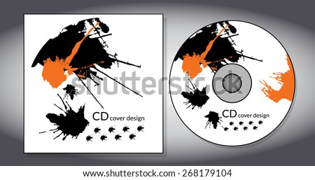 Cd Cover Design Template Abstract Background Stock Vector (Royalty ...