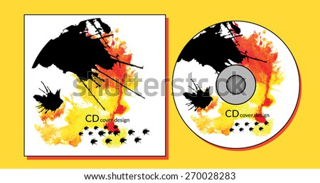 cd cover design template abstract background stock vector royalty