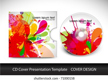 cd cover design template presentation  , editable vector illustration