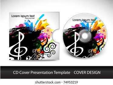 vector cd cover design template copy stock vector royalty free
