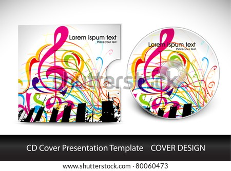 cd cover design template presentation editable stock vector royalty