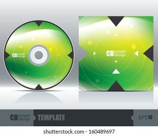 CD Cover Design Template Set 1. Vector