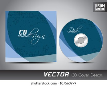 CD cover design template with text space. EPS 10.