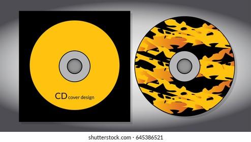 Cd cover design template. Vector illustration.