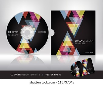 Cd cover design template.Vector illustration