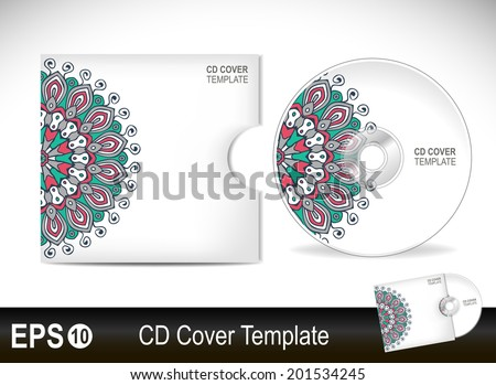 cd cover design template vector illustration のベクター画像素材
