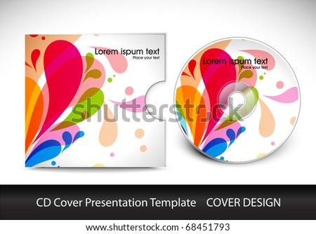 CD Cover Layout Design Template Preview Editable Stock Vector ...