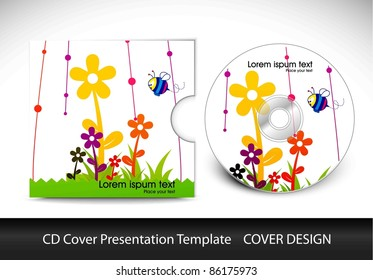 cd cover presentation design template , editable vector illustration