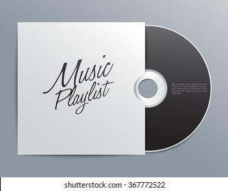 Cd With Cover Template : Vector Illustration