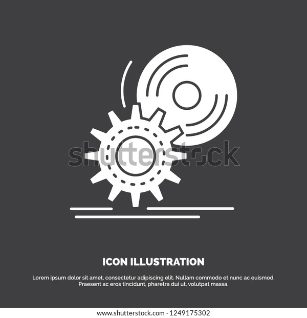 Cd Disc Install Software Dvd Icon Stock Vector (Royalty Free