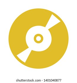 CD disk vector icon. Compact disc filled flat sign for mobile concept and web design. CD, DVD drive glyph icon. CD or DVD sign icon. Compact disc symbol.