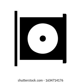 CD, DVD, disc drive vector icon illustration