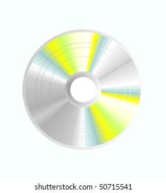 CD or DVD, vector