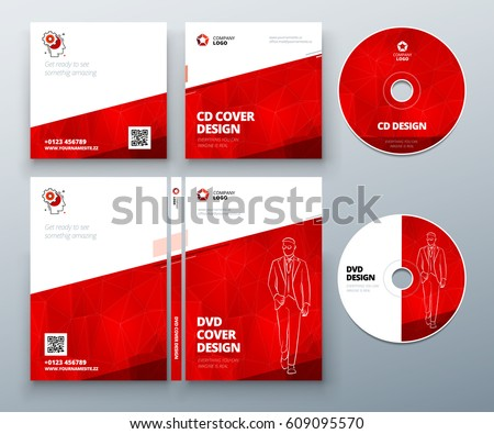 cd envelope dvd case design red stock vector royalty free
