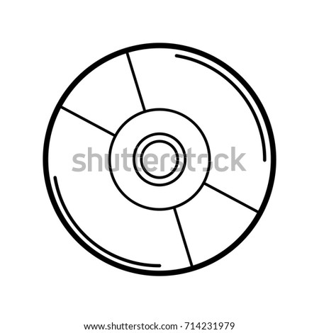 Cd Icon Outline Isolated On White Stock Vector Royalty Free