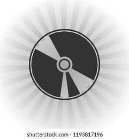 Cd icon vector icon. Simple element illustration. Cd symbol design.