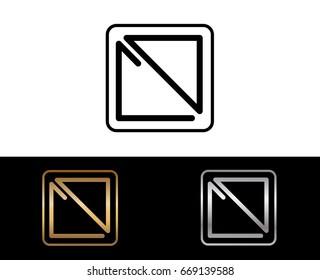 CD initial box shape Logo designs template