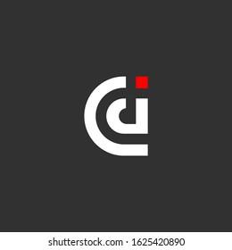CD initial letter logo design template vector