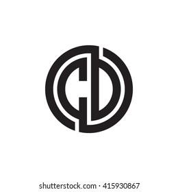 CD initial letters linked circle monogram logo