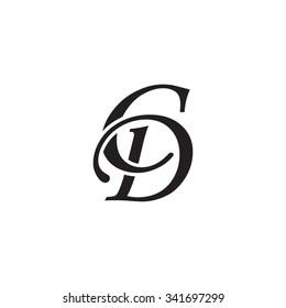 CD initial monogram logo