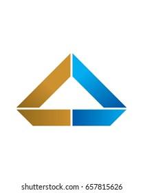 CD Initials Triangle Logo