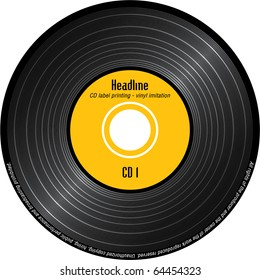 CD label printing - imitation vinyl