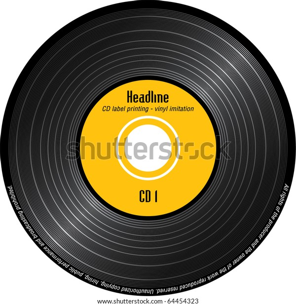 image regarding Printable Vinyl Record Labels identified as Cd Label Printing Imitation Vinyl Inventory Vector (Royalty Free of charge