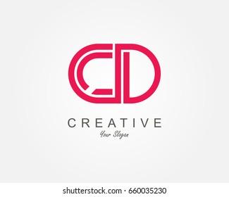 CD Letter Logo Design Template Element