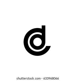 cd letter vector logo