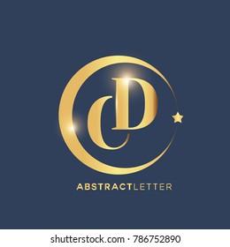 CD Logo Design Template. Luxury Gold Letter Logo Vector eps.10