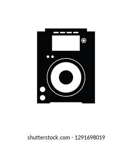 CD player flat vector pictogram.