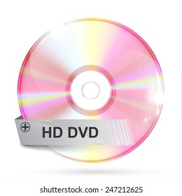 CD/DVD, with a label, vector