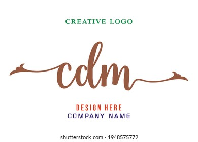 CDM lettering logo is simple, easy to understand and authoritative