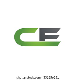 CE company linked letter logo green