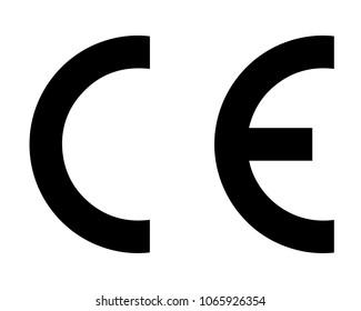 CE European Conformity certification mark, vector illustration