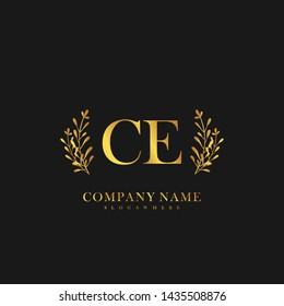 CE Initial beauty floral logo template
