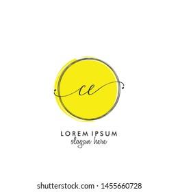 CE Initial beauty monogram logo vector
