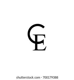 ce letter initial logo design