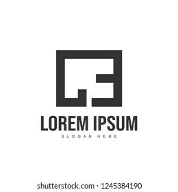 CE Letter logo design. Initial letter logo template design