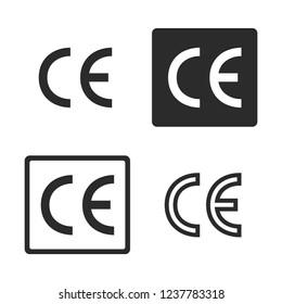 CE mark certification symbol vector image