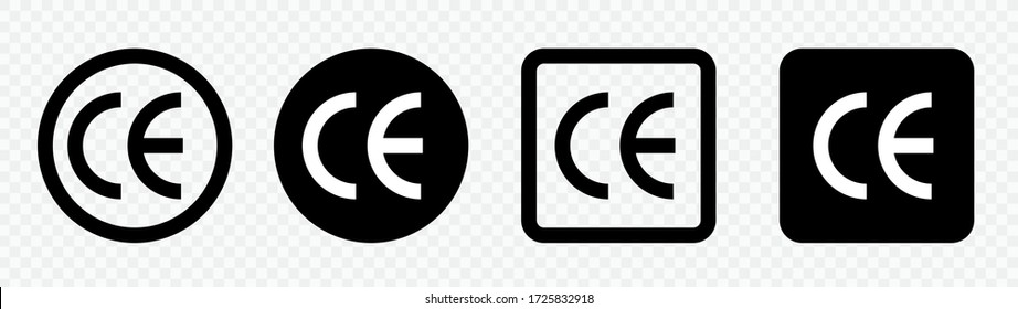 CE mark collection.CE icon symbol vector. Certification mark set.CE sign black and white.EPS10 vector