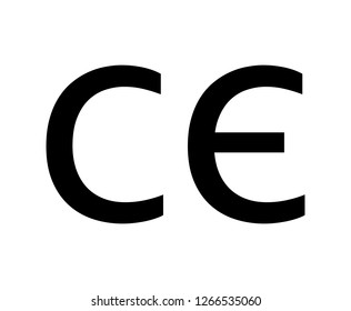 ce mark icon on white background. flat style. box sign icon for your web site design, logo, app, UI. ce mark symbol. eu sign. environmental protection.