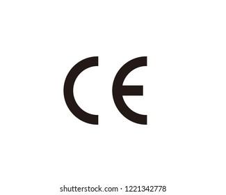 CE mark icon sign symbol