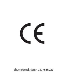 CE mark icon symbol vector illustration