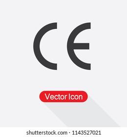 CE Mark Icon Vector Illustration Eps10