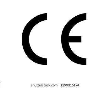 CE mark symbol. Certification mark. Vector illustration