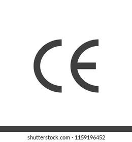 CE mark symbol european conformity certification mark vector image