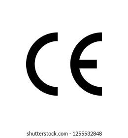 CE mark symbol . CE symbol vector icon.